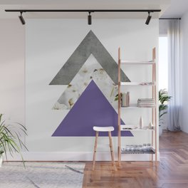Ultra Violet Blossoms Arrows Wall Mural