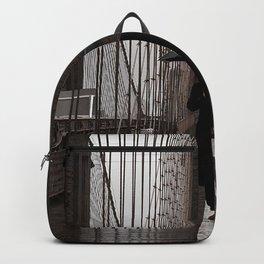 bridge umbrella man silhouette lonely design Backpack