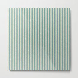Vintage Stripes Metal Print
