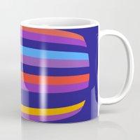 hamburger Mugs featuring Abstract Hamburger by Betty Mackey