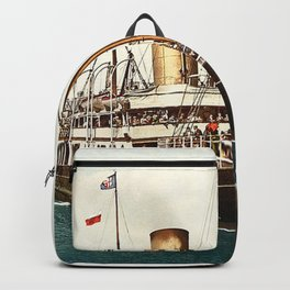 Vintage Ocean Liner Backpack