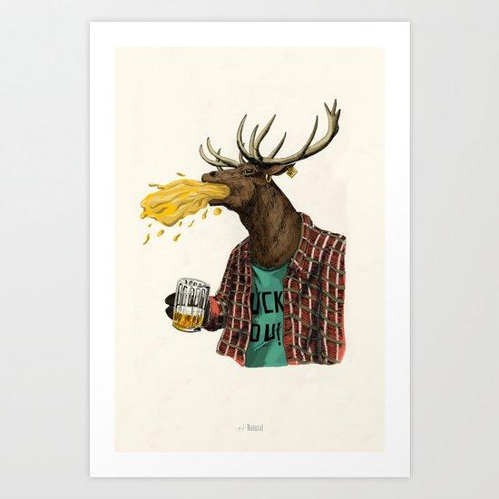 natural series- oh my deer Art Print