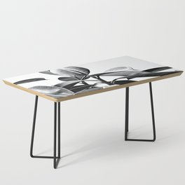 Black and White Leaves Coffee Table