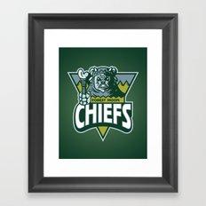 Forest Moon Chiefs - Green Framed Art Print
