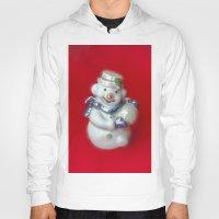 snowman Hoodies featuring Snowman  by Svetlana Korneliuk