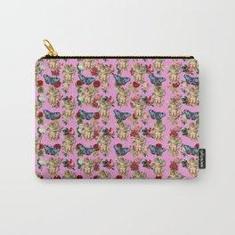 angel cherub butterflies pink Carry-All Pouch