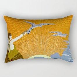 """Wings of Victory"" Art Deco Design Rectangular Pillow"