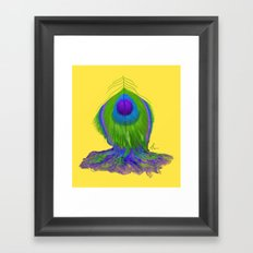 Melting Peacock Feather - Concept Painting Framed Art Print
