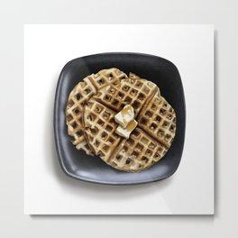 Vanilla Bean Waffles Metal Print