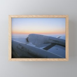 View just before sunrise over the Arctic Ocean during IceBridges transit flight from Fairbanks to Th Framed Mini Art Print