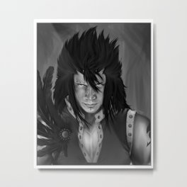 Gajeel Redfox - Iron Dragon Slayer Metal Print