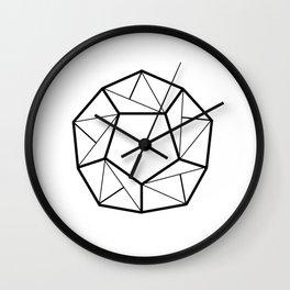 Black Line; Decorative Art Prints for Living Rooms Wall Clock