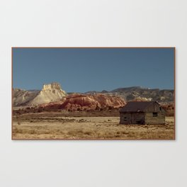 Historic Cabin An Outpost in UTAH--John D Barrett Photography Canvas Print