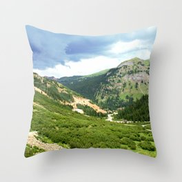 """Chattanooga Loop"" as Seen from the Silver Crown Mine Throw Pillow"