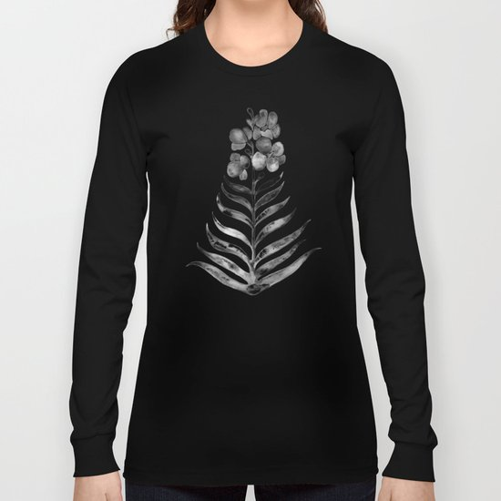 Blooming Black Orchid Long Sleeve T-shirt
