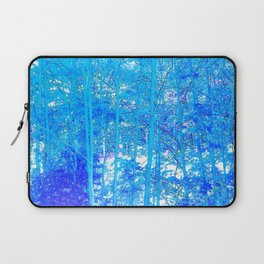 268 - Abstract Blue Forest Laptop Sleeve