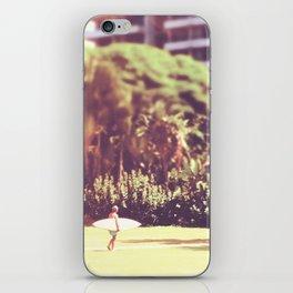 I'll Bring My Board to Work Surfer Hawaii Surfboard Waikiki Beach People Photography  iPhone Skin