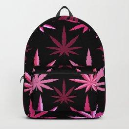 Marijuana Magenta Pink Weed Backpack