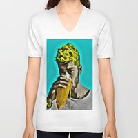 zayn malik V-neck T-shirts featuring Zayn Malik Pop Art by Indigo Blues