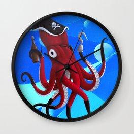 Captain Calamari Wall Clock