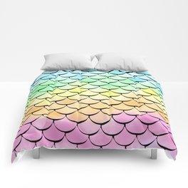 Ombre Rainbow mermaid Comforters