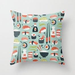 Sushi Dreams – Mint Throw Pillow