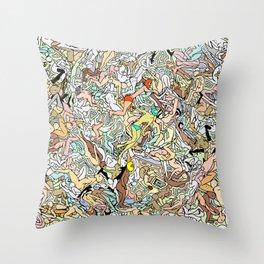 Martians Invasion Throw Pillow