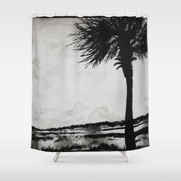 Palm Tree on the Marsh Shower Curtain