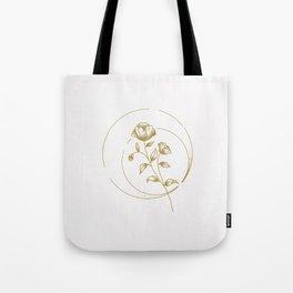 Gold Rose Tote Bag