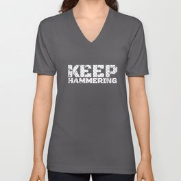 keep hammering brother t-shirts Unisex V-Neck
