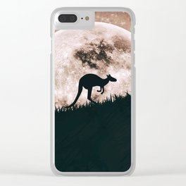 The solitary kangaroo Clear iPhone Case