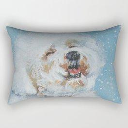 Bichon Frise dog art Fine Art Dog Painting by L.A.Shepard Rectangular Pillow