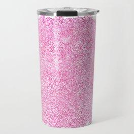 Pink Swirly Doodle Travel Mug