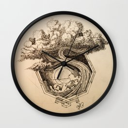 The Tree Inside the Octagon Wall Clock