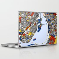 montreal Laptop & iPad Skins featuring montreal map mondrian by Mondrian Maps