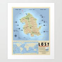 Geography of LOST - Large Art Print