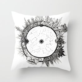 Cosmic Wheel Throw Pillow