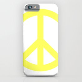 Peace (Light Yellow & White) iPhone Case
