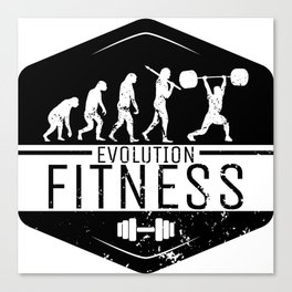 Evolution Fitness   Workout Training Muscles Canvas Print