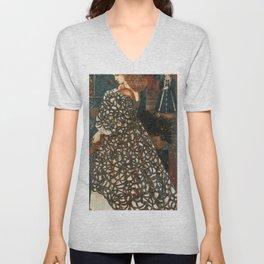 Edward Burne-Jones - Sidonia von Bork Unisex V-Neck