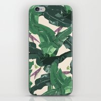 banana leaf iPhone & iPod Skins featuring Banana Leaf Pattern by Tamsin Lucie
