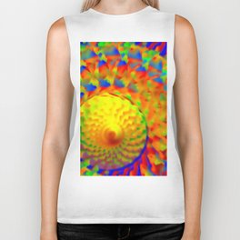 Abstract solar winds ... Biker Tank