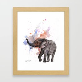 Dancing Elephant Painting Framed Art Print