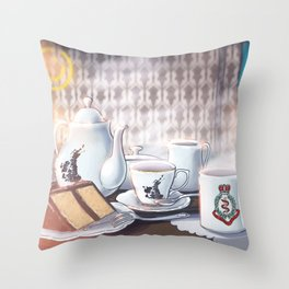 221Tea Throw Pillow