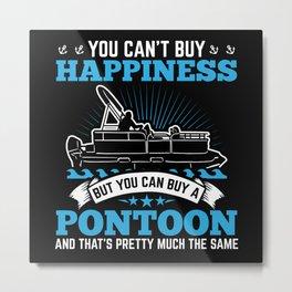 Pontoon Boat Captain | Buy A Pontoon Metal Print
