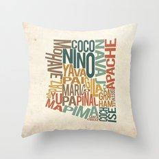 Arizona by County Throw Pillow