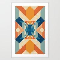 sacred geometry Art Prints featuring Sacred Geometry by defyeyes