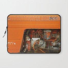 Orange Tractor Abstract Laptop Sleeve