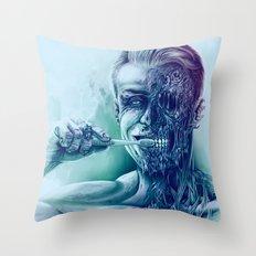 Hygienic Zombie Throw Pillow