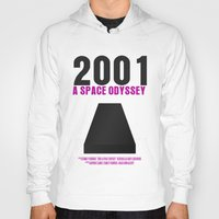 2001 a space odyssey Hoodies featuring 2001: A Space Odyssey Movie Poster by FunnyFaceArt